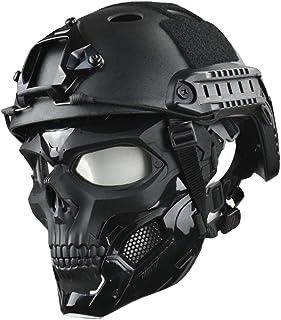 Masker en snelle helm, beschermende full face transparante bril schedel masker, dual-mode dragen ontwerp, verstelbare rie...