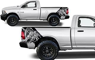 Factory Crafts Dodge Ram 2009-2018 Reaper Rear Quarter Panel Graphics Kit 3M Vinyl Decal Wrap - Matte Black