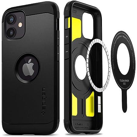 Spigen MagSafe 専用 ケース マグネット搭載 iPhone12 mini 用 ケース 5.4インチ 対応 米軍MIL規格取得 耐衝撃 三層構造 スタンド付き スマホスタンド カメラ保護 傷防止 衝撃 吸収 Qi充電 ワイヤレス充電 アイフォン12ミニケース タフ・アーマー マグ ACS02621 (ガンメタル)