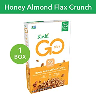 Kashi GO Honey Almond Flax Crunch Breakfast Cereal - Non-GMO   Vegetarian   14 Oz Box