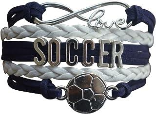 Soccer Charm Bracelet - Infinity Love Adjustable Charm...