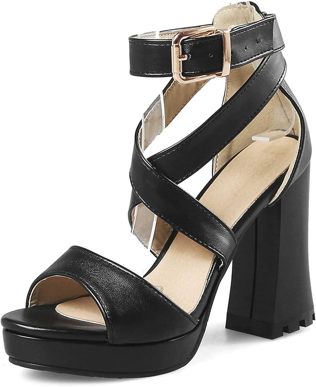 Surprise-Show Sandals Sexy Gladiator High Heel Platform Sandals Ankle Straps Party Wedding shoes