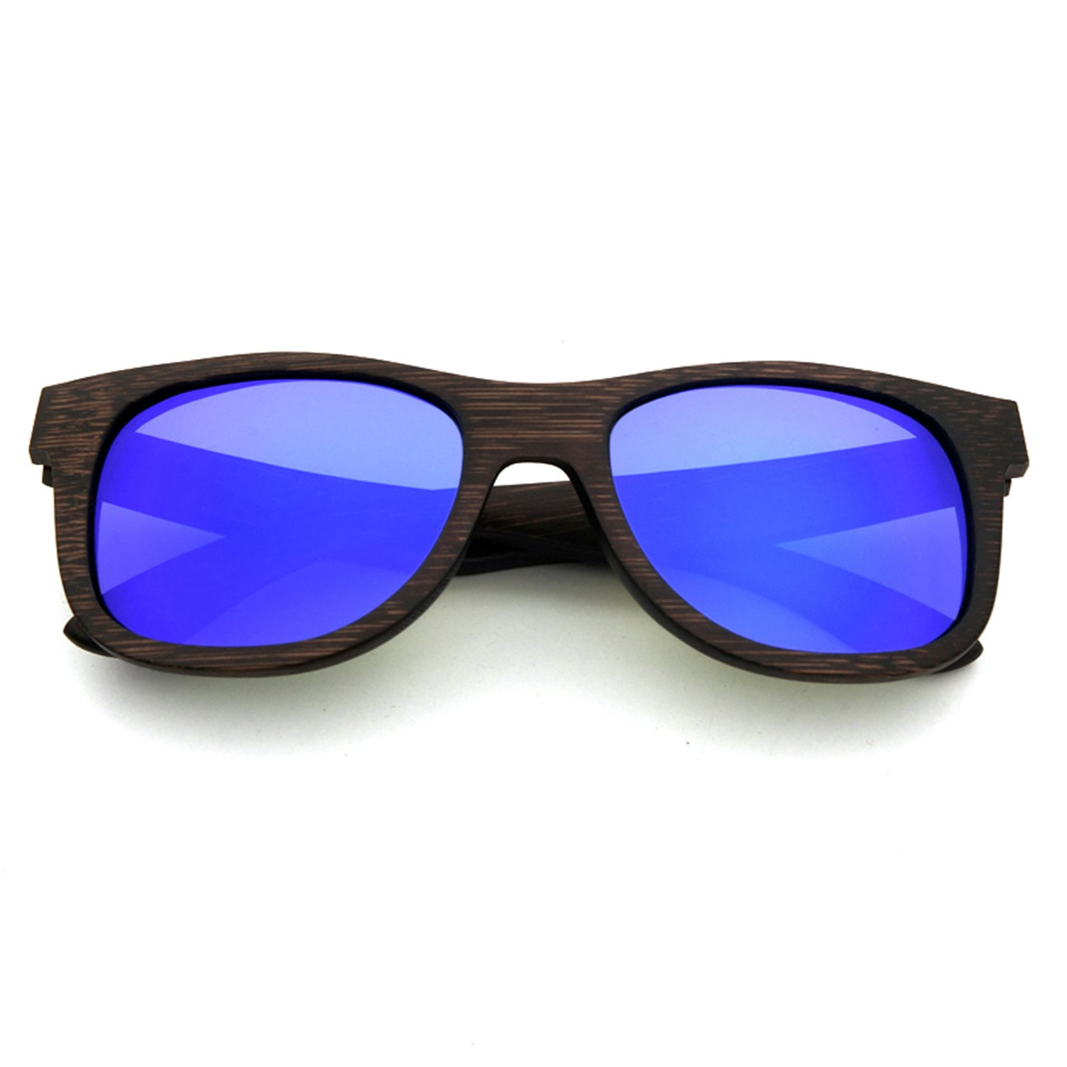 LUI SUI Men Women Retro Wood Polarised Lens Sunglasses UV Protection Eyewear Lightweight Wooden Frame Float Style Glasses for Traveling Cycling Fishing