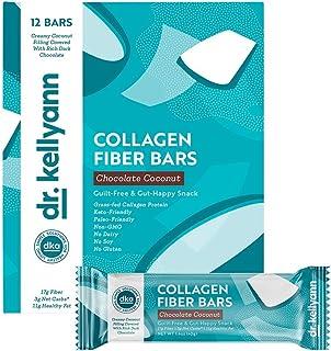 Keto Collagen Fiber Bar - High Fiber, Low Carbs - Soy Free, Gluten Free, Non-GMO & No Added Sugar - Perfect Keto & Paleo S...