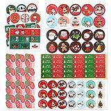 HOWAF 250pcs Autocollants de Noël Étiquettes d'autocollants de Noël Autocollants d'étiquette de Noël Père Noël Sapinde Noël Autocollants de Noël pour Enfants pour décorations d'artisanat