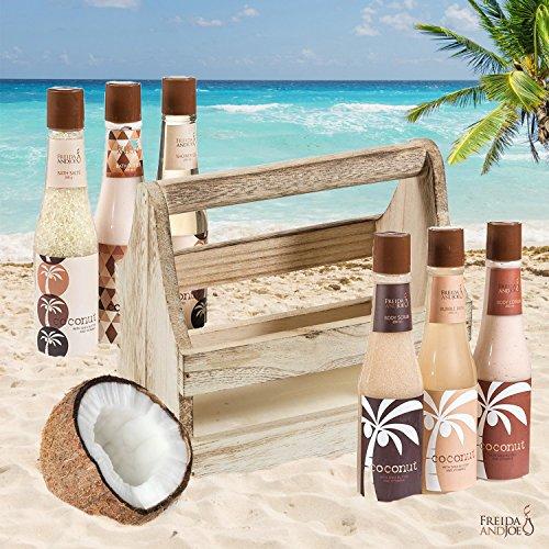 Tropical Milky Coconut Bath and Body Set Skin Care Bath for Women: Coconut Shower Gel, Bubble Bath, Bath Salts, Body Butter, Body Scrub, Body Lotion - Luxury Spa Set