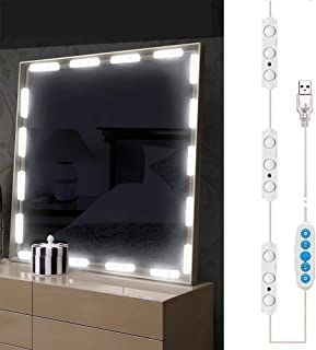 Led Vanity Mirror Lights, Hollywood Style Vanity Make Up Light, Dimmable Color and Brightness Lighting Fixture Strip, for ...