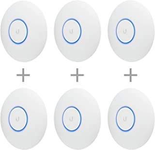 Ubiquiti Networks UAP-AC-PRO-US Unifi 802.11ac Dual-Radio PRO Access Point (6 Items)