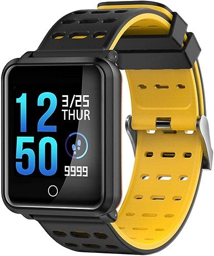 ZGYYDY Bracelet de Sport Intelligent Bracelet Cardiofréquencemètre Moniteur De Pression Artérielle bleutooth 4,2 Ip68 étanche Ip68 Sports Bracelet 1,3 Pouces IPS écran
