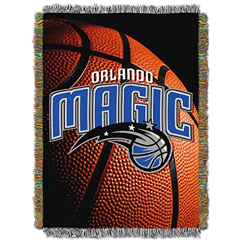 Orlando Magic NBA Triple Woven Jacquard Throw (019 Series) (48x60 )