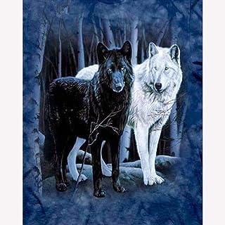 BOIPEEI 大人のためのジグソー1000ピースパズル子供動物黒狼白狼年齢Diy壁画大パズルゲーム教育アートワーク十代の若者たちクリスマス-50X70Cm