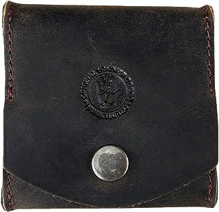Greenburry Kleingeldbörse Tabak - Aus echtem Leder - Münzbeutel mit stabilen Druckknopf - Perfekt für ihre Kleingeld Aufbewahrung - Vintage Revival