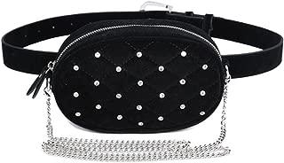 Black Stylish Waist Belt Bag Fanny Packs Purse Shoulder Bag For Women Fashion