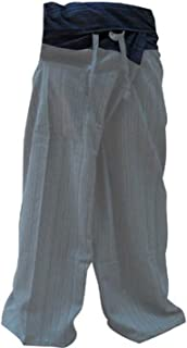 Thai Fisherman Pants Men's Yoga Trousers Gray Charcoal 2 Tone Pant