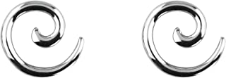 Pair of 0G-12G Surgical Steel Solid Spiral Taper Earrings