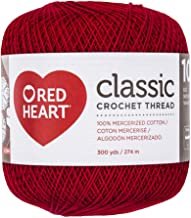 Coats Crochet Classic Crochet Thread, 10, Victory Red