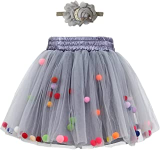 Zcaynger Baby Girls Tutu Skirt Infant Tulle Skirt with Headband