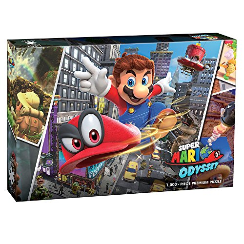 Super Mario Odyssey Snapshots 1000 Piece Premium Puzzle | Super Mario Odyssey Video Game Collectible Puzzle | Mario Bros Toys