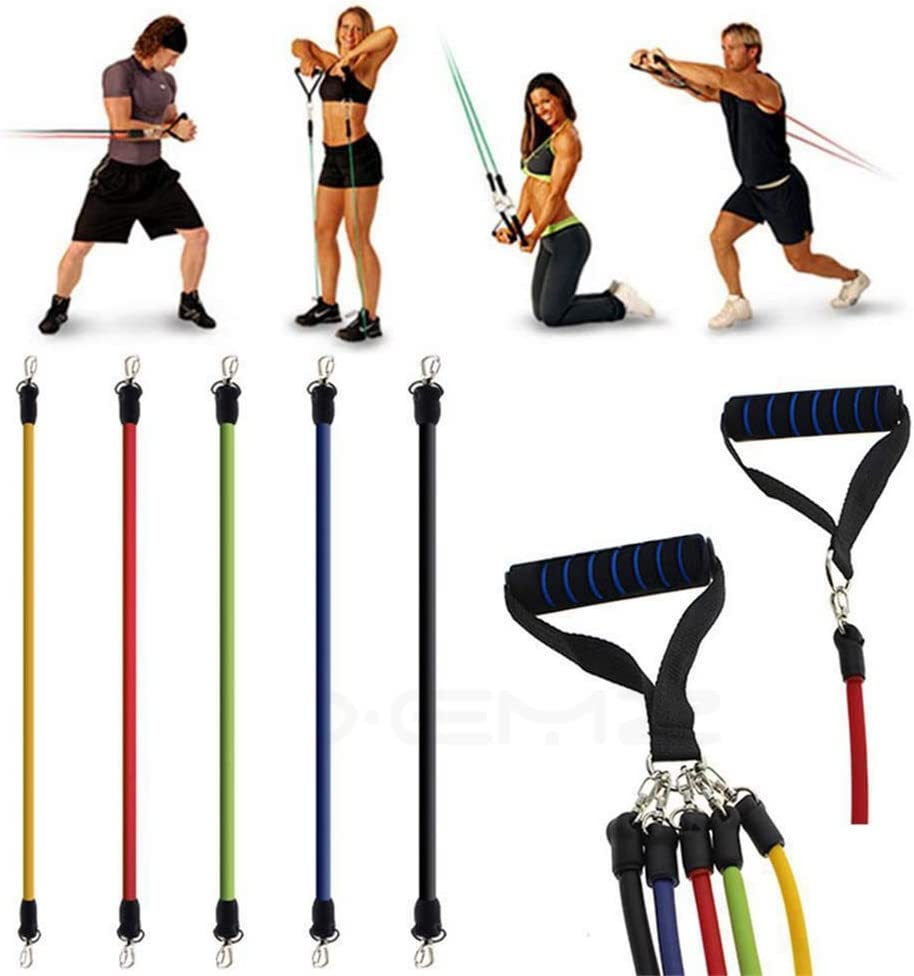 Xemz Resistance Bands Set Seattle Mall - Anti Special price for a limited time Heavy Legs Snap Ankle Straps R