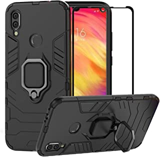 904905ac6b5 BestMX Funda para Xiaomi Redmi Note 7 Case Protector de Pantalla de Cristal  Templado, Híbrida