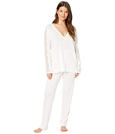 La Perla Bianca Long Pajama Set (Soft White) Women