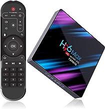 Raxxio H96 Max Android TV Box 9.0 with 4GB RAM 64GB ROM I 4K Smart Set Top Box Equipped RK3318 Quad-Core Processor 64bit S...