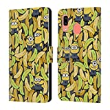 Head Case Designs Officially Licensed by Despicable Me Banana Pattern Minion Graphics Leather Book Wallet Case Cover Compatible with Samsung Galaxy A20 / A30 2019