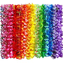 -- High quality handmade silk hawaiian leis necklace for tropical luau hawaii lei theme party favors decorations holiday wedding beach birthday supplies wreaths flowers garland headbands -- They hawaiian leis luau flowers necklace are soft and so thi...