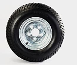 Trailer Tire On Rim 20.5X8-10 205/65-10 20.5X8.0-10 5 Lug E Wheel Galvanized
