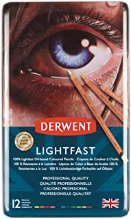 Derwent Lightfast Colored Pencils, for Artist, Drawing, Professional, 12 Pack (2302719)