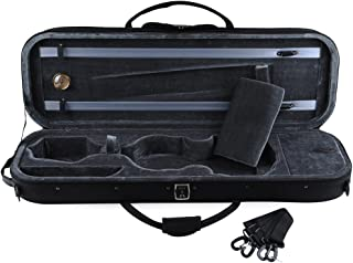 ADM Full Size Oblong Shape Lightwight Violin Case with Hygrometer and Carry Straps