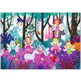 Puzzles for Kids Ages 3-5 Premium 24 Piece Fairy Forest Floor Puzzles for Kids Ages 3-8, Preschool Jigsaw Puzzles Educational Toys for Boys & Girls 3 4 5 6 7 8 Years Old