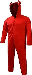 Bioworld Merchandising Men's Unisex Hooded Red Devil One Piece Pajama