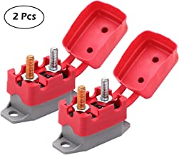 RKURCK 6-28V 40 Amps Circuit Breaker Manual Reset for Automotive RV Marine Boat with Protective Red Belt Cover 40A