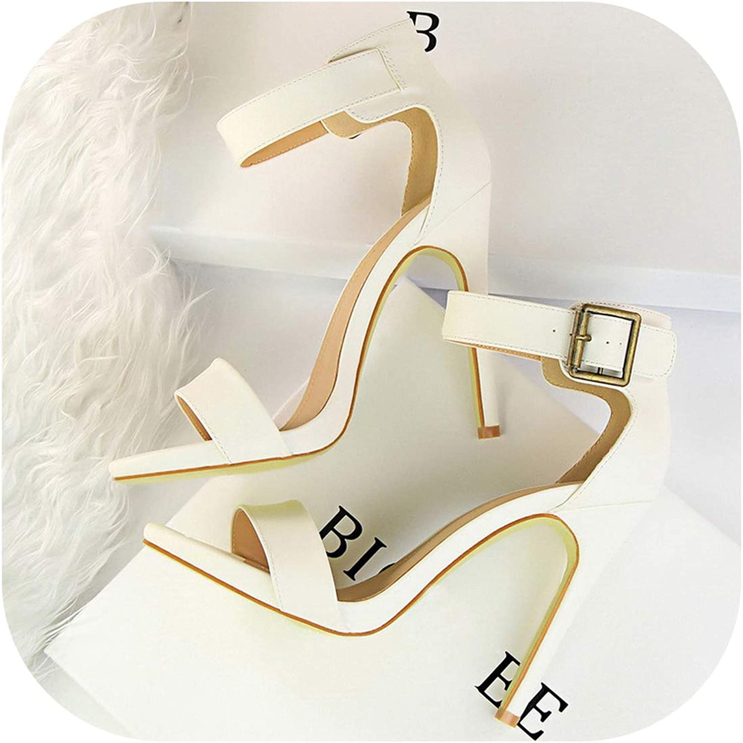 Perilla fire 2019 Women Newest Classic 11cm High Heels Fetish Soft Leather Sandals Female Gladiator Summer shoes