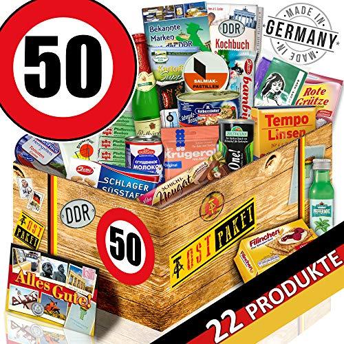Ostprodukte / Spezialtiäten Geschenkset / Geburtstag 50 / Geschenkideen Vater