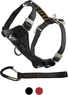 Kurgo Dog Harness | Car Harness for Dogs | Medium | Black | Pet Safety Seat Belt | Certified Crash Tested Harness | Car Se...