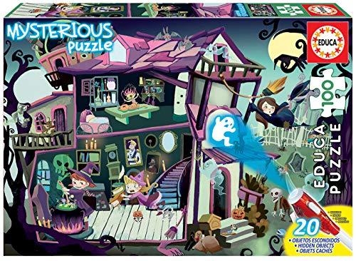Mysterious Puzzle: Casa Encantada, 100 Piezas, Multicolor (18611)