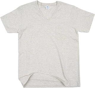 (ベルバシーン) Velva Sheen 2PAC ポケット付きV-Neck Tシャツ WHITE OATMEAL velvasheen-2p-t-v-wh-oat