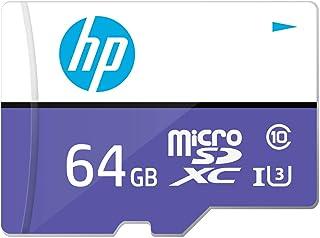 【Amazon.co.jp 限定】HP microSDXCカード 64GB パープル UHS-I(U3) 4K Class10対応 最大読出速度100MB/s、最大書込速度35MB/s 1年間保証 HFUD064-1U3-PA