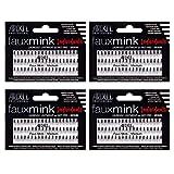 Ardell False Eye Lashes Faux Mink Individuals Medium Black 4 Pack