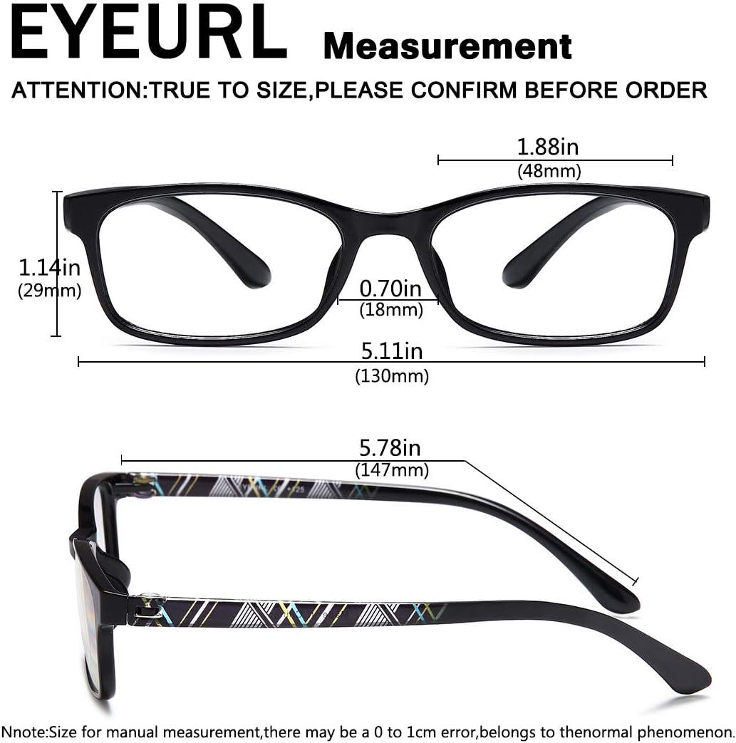 Buy EYEURL Reading Glasses Men Womens Blue Light Blocking   TR20 ...