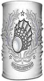 Sciarpa unisex Scaldacollo Bandana Ghette al collo Sciarpa testa Volanchic Center Argento Corona d'alloro Sport leggero Qualsiasi squadra di badminton Volanchic Center Argento