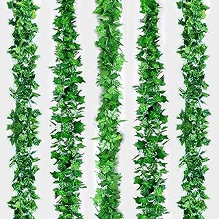 Love-Lucky 12 Strands Artificial Ivy Leaf Plants Vine Hanging Garland Fake Foliage Flowers Home Kitchen Garden Office Wedd...