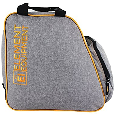 Element Equipment Boot Bag Snowboard Ski Boot Bag Pack Heather Grey/Orange