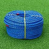 TITAN Cuerda de Polipropileno   Cordel Seguridad de Polipropileno Alta   Negro o Azul – Variedad de Tamaños y Larguras   Bobinas (18mm – 100m, Azul)