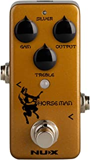 NUX Horseman Overdrive Guitar Effect Pedal with Gold and...