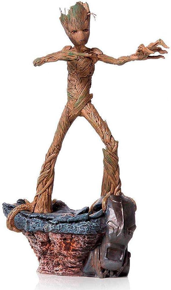 iron studios statuetta da collezione, marvel avengers endgame, groot