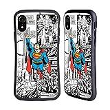Head Case Designs Licenciado Oficialmente Superman DC Comics Vuelo Arte del cómic Carcasa híbrida Compatible con Apple iPhone XR