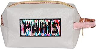 STRIPES Portable Waterproof PU Off White Colour Toiletries Makeup Pouch Travel Kit Bag Stylish Pouch for Makeup Accessorie...